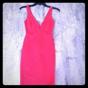 Lulu's sexy red body con dress